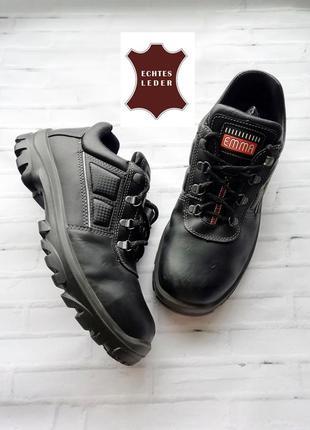 Зимние мужские кожаные ботинки emma со стальными носками - 43 р.