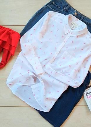 Хлопковая рубашка оверсайз в арбузах