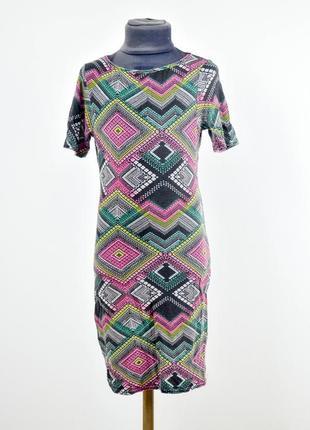 New look короткое платье с узором по фигуре, в орнамент
