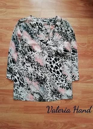 Стильная брендовая актуальная нарядная  блуза - рубашка - туника m&s - размер 46-48