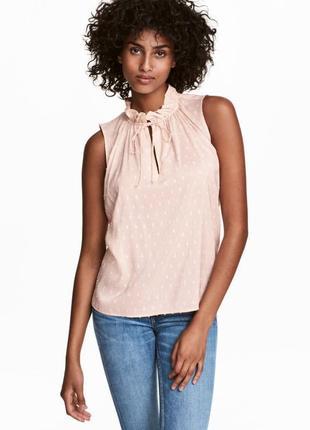 Блузка, с воротником стойкой, блуза, топ  без рукавов h&m