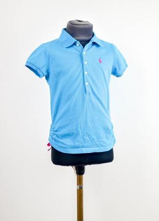 Polo ralph lauren голубая поло футболка с логотипом, тенниска