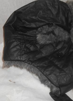 Зимняя шапка-ушанка 55 см