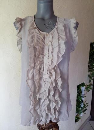 Актуальная нюдовая блузочка 48-50 р