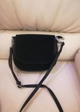 Черная сумочка кожзам