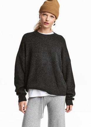 Новый свободный свитер пуловер h&m, шерсть