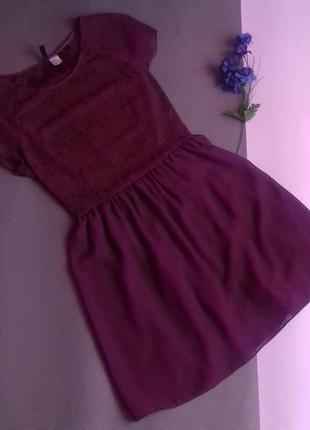 Шифоновое платье винного цвета марсала от h&m