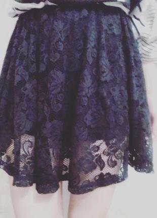 Кружевная юбка-солнце