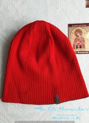 Новая двухстороняя шапка:красный и серый