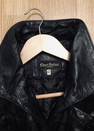 Осіння шкіряна курточка