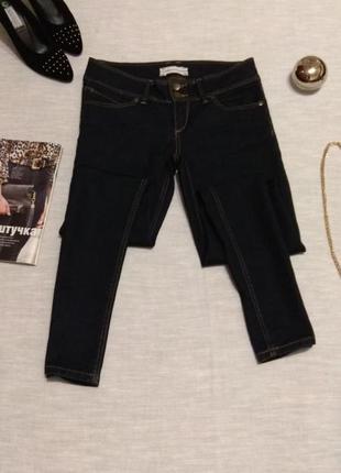 Темно-синие джинсы скинни от бренда topshop/средней плотности,стрейчевые.размер 30-l.