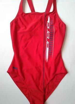 12-14 м-л спортивный цельный красный купальник для бассейна