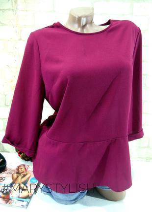 Блузка креп-шифон, цвет вишня atmosphere