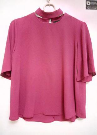 Блуза с чокером цвет марсал.