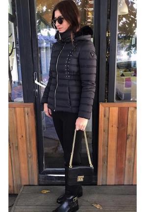 ‼️скидка зимняя куртка пуховик от guess размеры s и m
