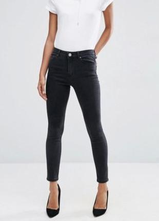 Суперраспродажа!!!!!!!!черные фирменные   зауженные джинсы