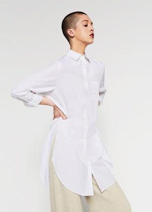 В наличии в наличии блуза рубашка удлиненная белая zara