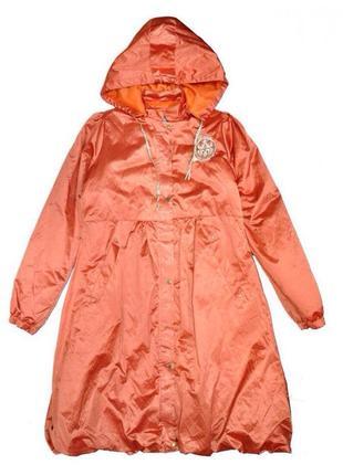 Плащ оранжевый атлас