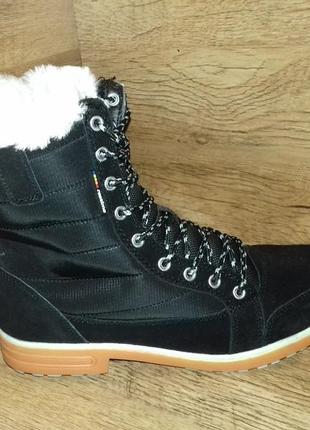 Зимние женские ботинки restime натуральный замш р. 36-41