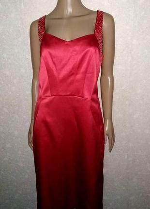 Вечернее атласное платье