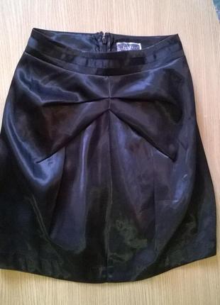 Фирменная юбка тюльпан р.s с отливом lipsy от next, стиль, креатив бомба