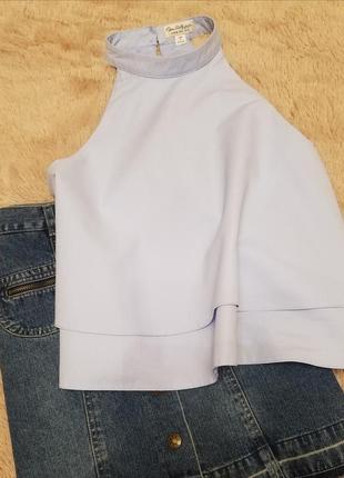 Топ майка футболка с открытыми плечами miss selfridge