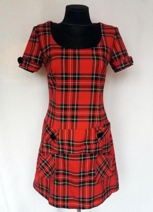 Суперцена. стильное платье, шотландская клетка. турция. новое, р. 42-46