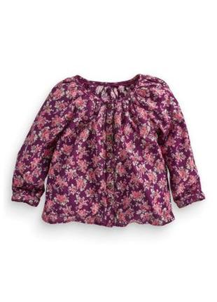 Стильная летняя блузка next на малышку