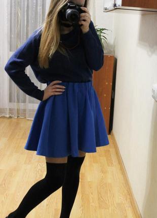 Синя спідниця  h&m