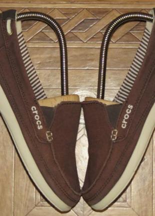 Мокасины слипоны лоферы crocs canvas loafer крокс(оригинал)р.w7