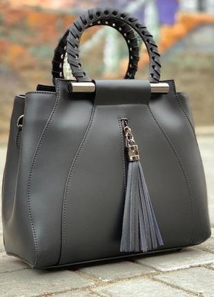 Кожаная сумка, италия, классическая сумка