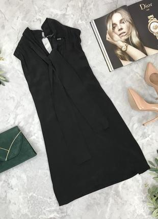 Комбинированное платье с натурального шелка  dr1848058 massimo dutti
