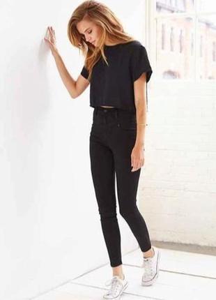 Черные джинсы с высокой посадкой..олимп !!! турция.хс,ххс.24,25