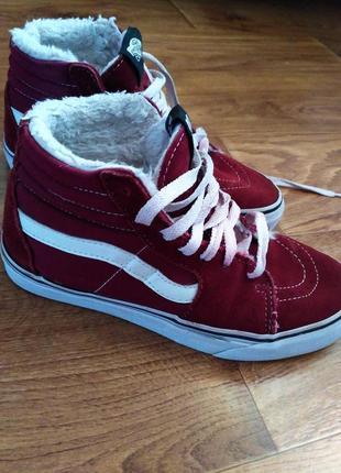 Ботинки, кеды, полуботинки, зимние кеды vans