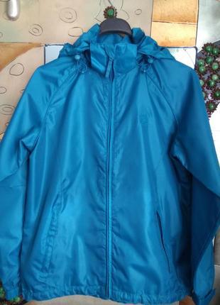Яркая куртка ветровка сине бирюзовая