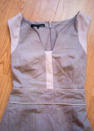 Платье бежевое миди карандаш футляр базовое классическое