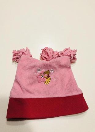 Тёплая зимняя флисовая шапка disney на 1-3 года