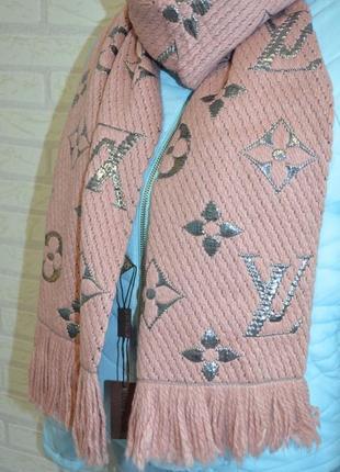 Теплый вязаный шарф бренд