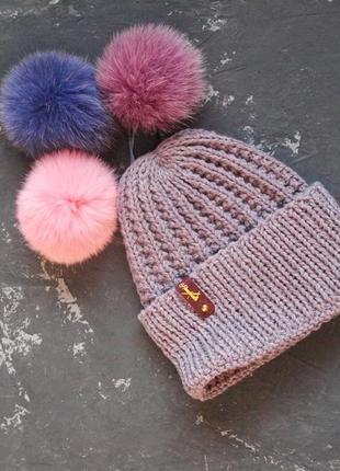 Зимняя шапка из иатльянской полушерсти