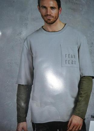 Стильная футболка с короткими рукавами и рваными краями , хл=ххл, германия