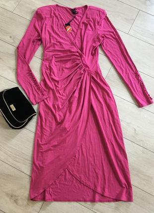 Платье на запах с запахом миди нарядное вечернее