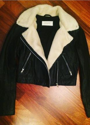 """Куртка.  ом """"борг"""" urbancode кожаная с воротником"""