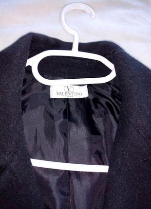 Теплое пальто valentino studio (оригинал), р. 46, lana vergine + кашемир