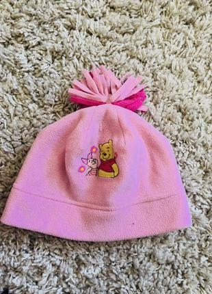 Тёплая флисовая шапка disney на 2-4 года