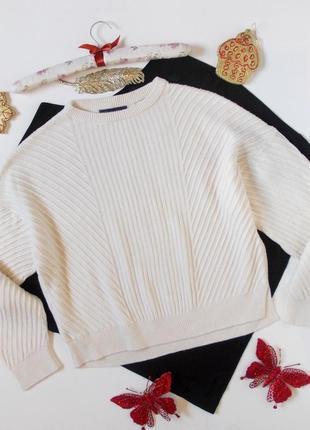 Крутой молочный свитер оверсайз свободный кофта джемпер