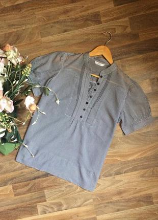 Черно белая блуза marks&spencer