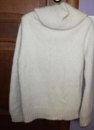 Очень красивый теплый стильный свитер с широким горлом ангора ted baker4