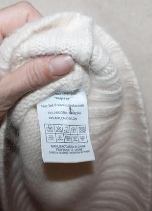 Очень красивый теплый стильный свитер с широким горлом ангора ted baker5