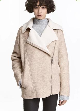 Шерстяная куртка h&m