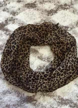 Фирменный леопардовый шарф accessorize,красивый шарфик в подарок